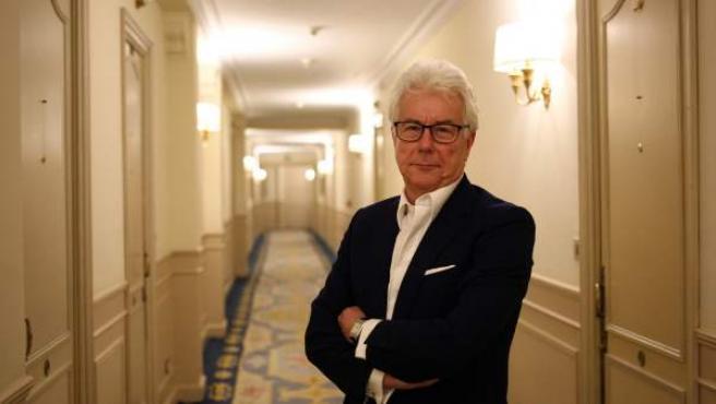 El escritor Ken Follet, de promoción de su novela 'Una columna de fuego' en Madrid.