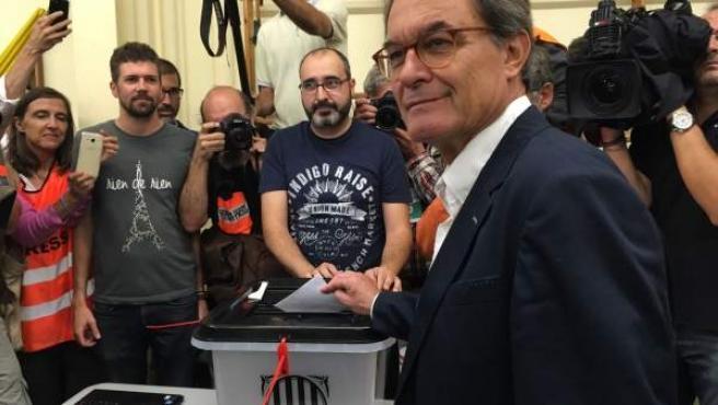 Artur Mas, en el referéndum del 1-O.