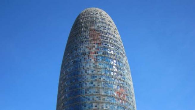 La torre Agbar de Barcelona.