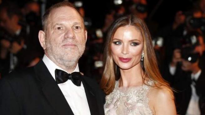 El productor de cine Harvey Weinstein y su esposa, Georgina Chapman, durante el festival de Cine de Cannes, en Francia, en mayo de 2016.