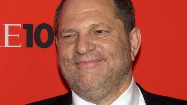 """El productor de cine estadounidense Harvey Weinstein, en la gala """"Time 100"""" de 2010, organizada por la revista 'Time' con motivo de su elección de las cien personas más influyentes del año."""