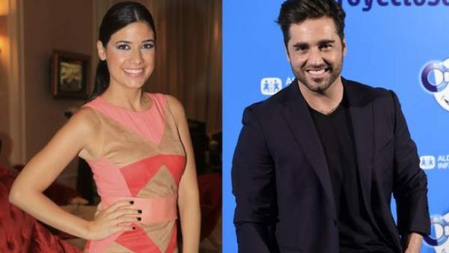 La presentadora Ares Teixidó y el cantante David Bustamante.