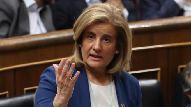 Fátima Bañez, en la sesión del Control al Gobierno.