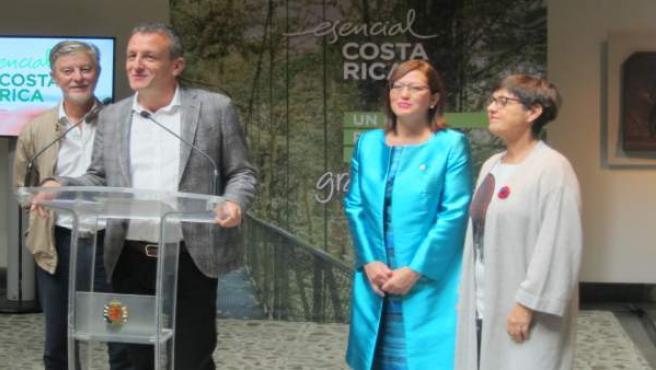 Acto de recepción a la embaadora de Costa Rica, Doris Osterlof