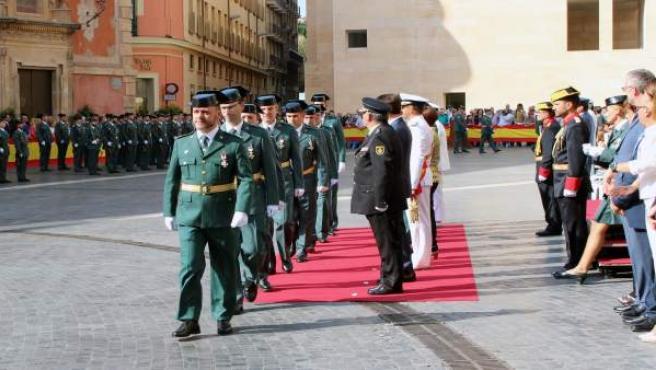 Imagen de la celebración del acto celebración Patrona Guardia Civil en Murcia