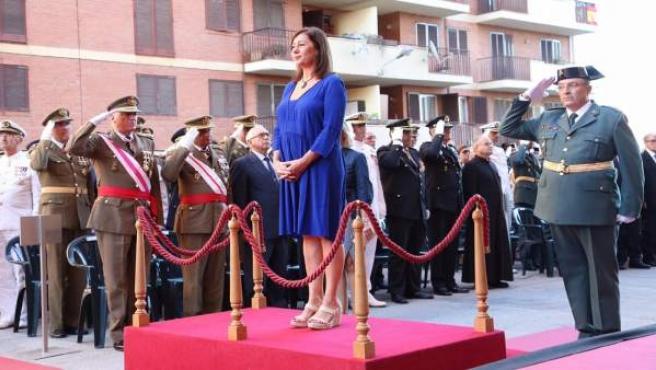 Armengol en la celebración de la Festividad del Pilar de la Guardia Civil
