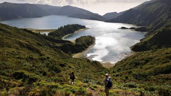 Las Azores, un archipiélago de origen volcánico.