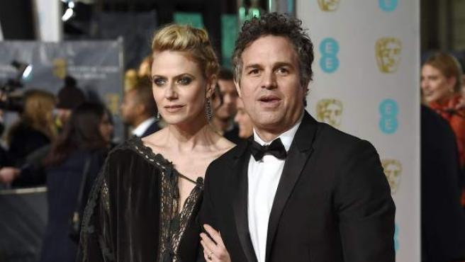 Mark Ruffalo y Sunrise Coigney, a su llegada a la Royal Opera House de Londres