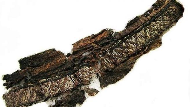 Tira de tela de la era vikinga donde se ha hallado la palabra 'Alá'.