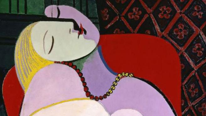 El sueño, 1932 de Pablo Picasso. Marie-Thérèse Walter fue la inspiración de este cuadro.
