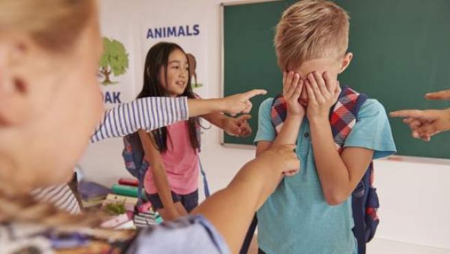 Una imagen de archivo de una situación de acoso escolar.