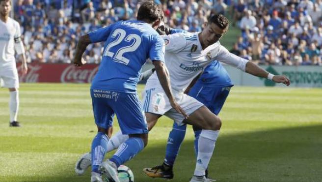 Cristiano Ronaldo, en el Getafe-Real Madrid.