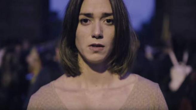 Anna Maruny, actriz que protagoniza el spot de 'Help Catalonia'.