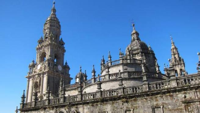 Vistas de la catedral de Santiago de Compostela.