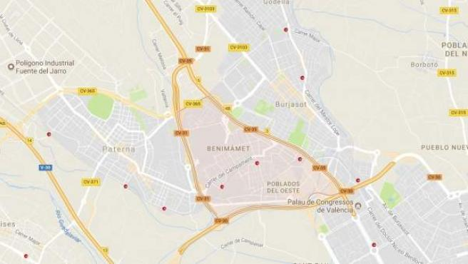 Imagen de la localización del suceso.