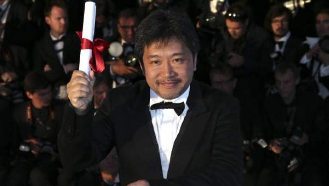 El director Hirokazu Kore-eda, en el Festival de Cannes de 2013.