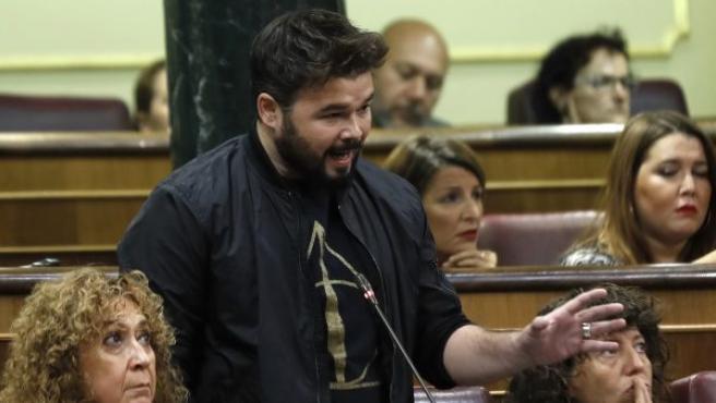 El diputado y portavoz adjunto de ERC en el Congreso, Gabriel Rufián.