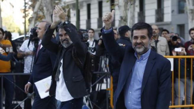 Jordi Sànchez y Jordi Cuixart, líderes de la ANC y Òmnium Cultural.