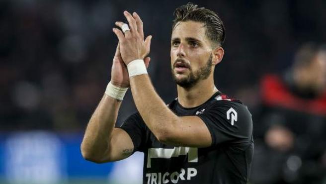 Fran Sol, jugador español del Willem II.