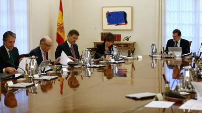 Reunión del Consejo de Ministros bajo la presidencia del presidente, Mariano Rajoy.