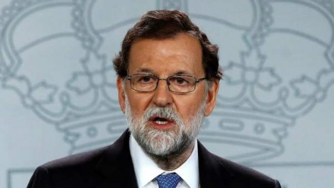 El presidente del Gobierno, Mariano Rajoy, en Moncloa.