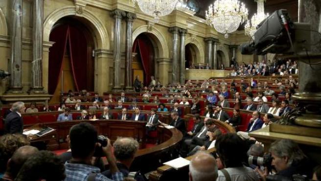 Imagen del pleno del Parlament de Catalunya.