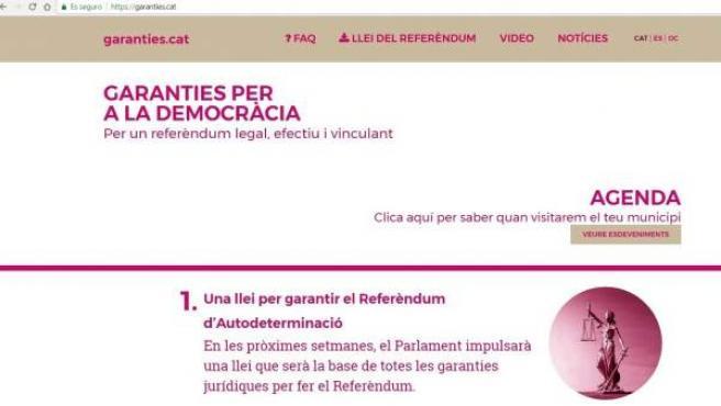 Portada de la web garanties.cat