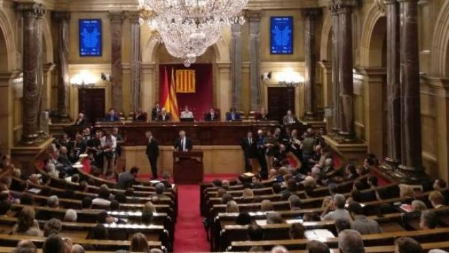 Pleno del Parlament del 27 de octubre.