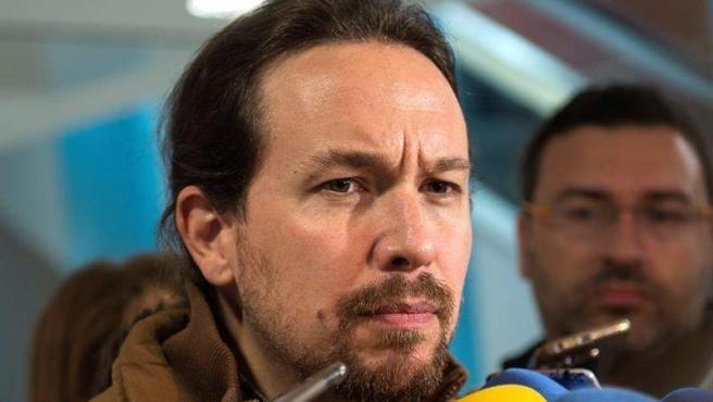 El secretario general de Podemos, Pablo Iglesias, en Santander.
