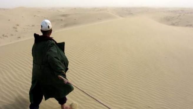 El desierto de Taklimakán, en la provincia china de Xinjiang, en una imagen de archivo.