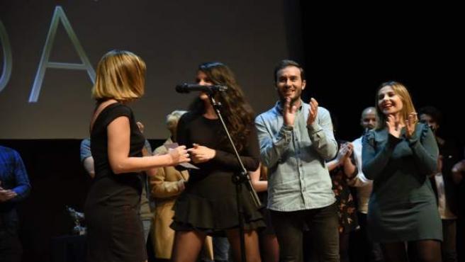 Entrega de premios en el Seriesland de Bilbao