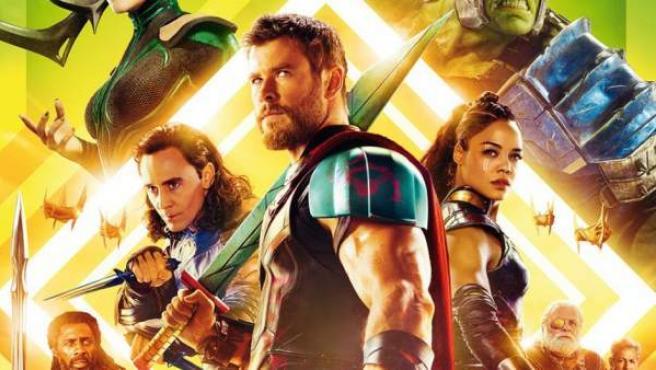 Detalle de uno de los pósters de 'Thor Ragnarok'