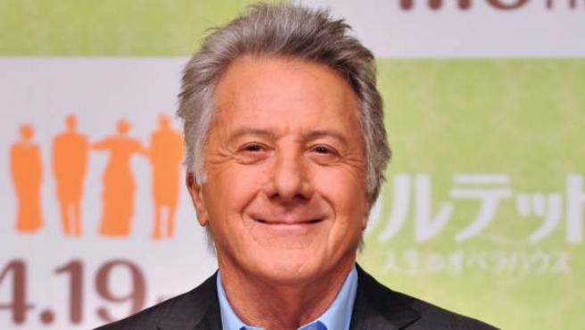 El actor Dustin Hoffman, durante la presentación de la película 'Quartet'.