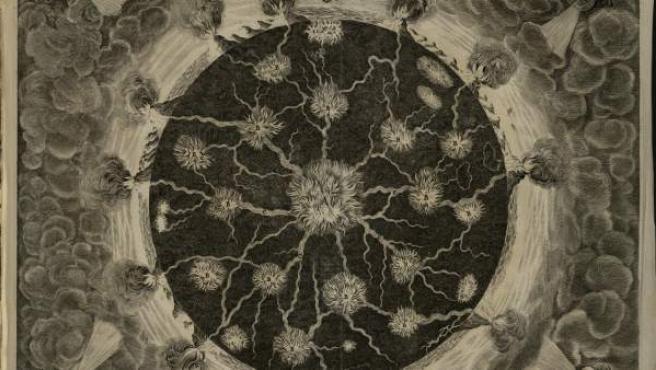 Especulaciones sobre el interior de la Tierra, de Athanasius Kircher, 1678.