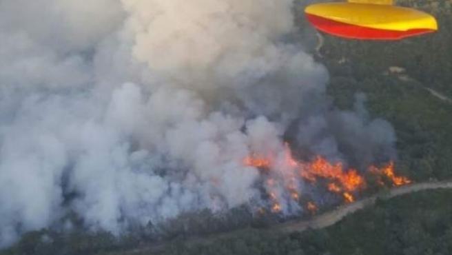 Uno de los incendios ocurridos en Ourense