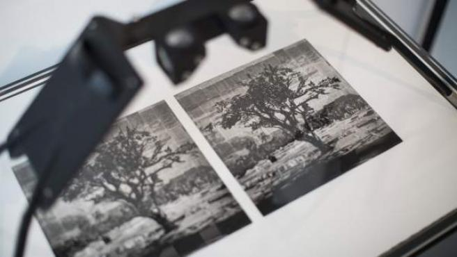 Una de las fotografías estereoscópicas realizadas por William Kentridge que dan forma al libro Tummelplatz.