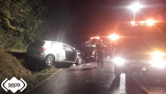 Accidente de tráfico en Villaviciosa