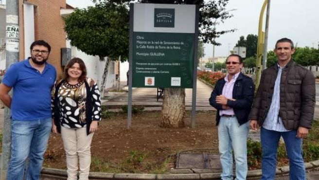 Obras en la red de saneamiento de Torre de la Reina (Sevilla)