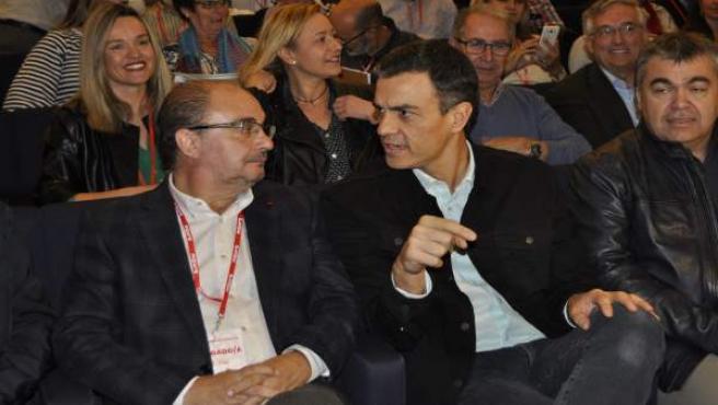 Javier Lambán y Pedro Sánchez