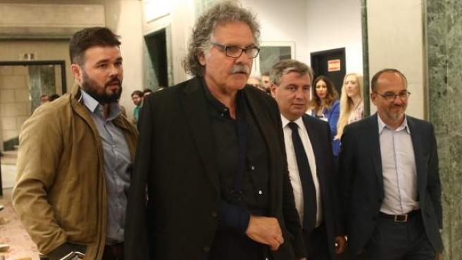 Gabriel Rufián, Joan Tardà, Jordi Xuclà y Carles Campuzano.