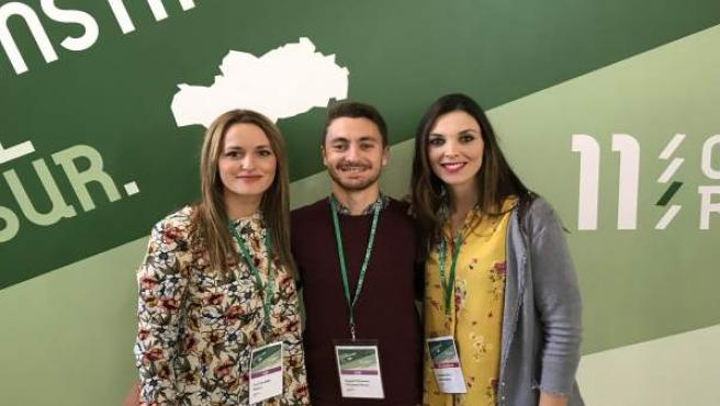 María Dolores Cruz, Mohamed Ahmed Bagdad y María Dolores Escámez