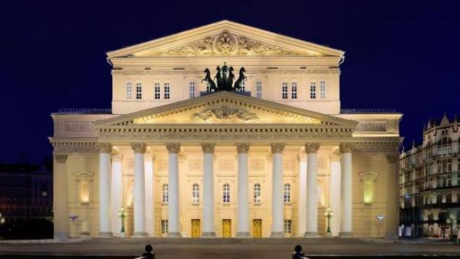Imagen del teatro Bolshoi de Moscú, Rusia.