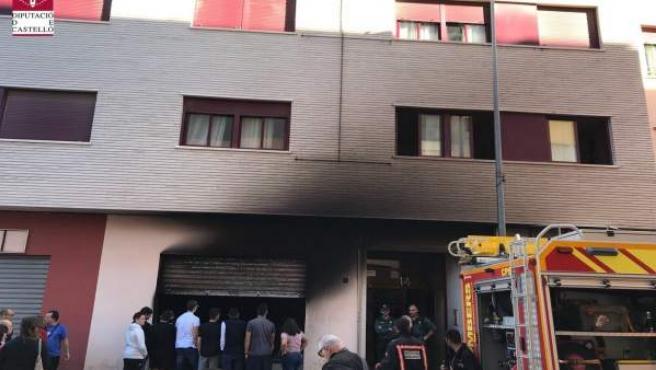 El fuego ha calcinado también el exterior de la vivienda