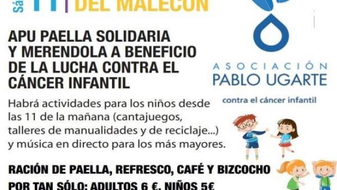 La Asociación Pablo Ugarte organiza una paella solidaria y una merendola