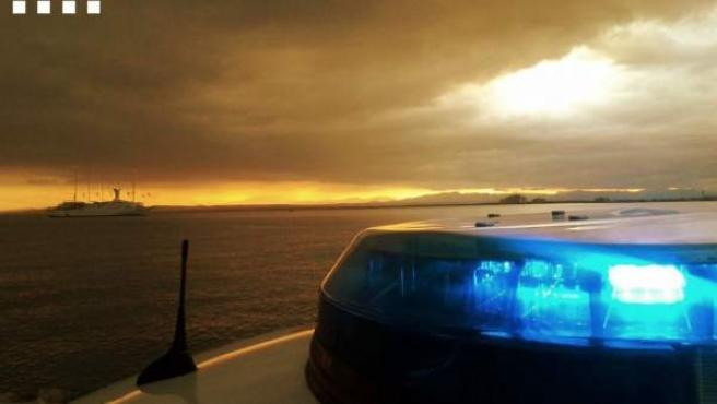 Imagen de la sirena de un coche de los Mossos d'Esquadra.