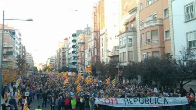 Manifestación en Lleida.