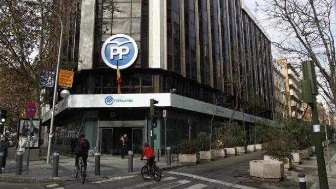Sede del PP en la calle Génova de Madrid.