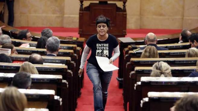 La exdiputada de la CUP Anna Gabriel en el Parlament.