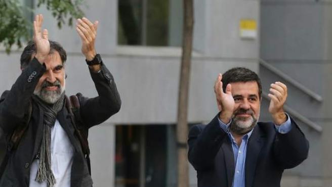 Jordi Sánchez y Jordi Cuixart acuden a declarar a la Audiencia Nacional.