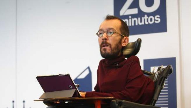 Pablo Echenique, secretario de Organización de Podemos.